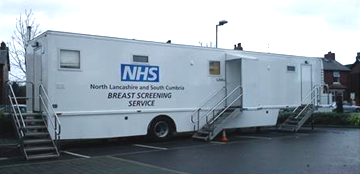 Mobile breast screening unit