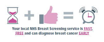 Your local NHS Breast Screening service is fast, free and can diagnose breast cancer early