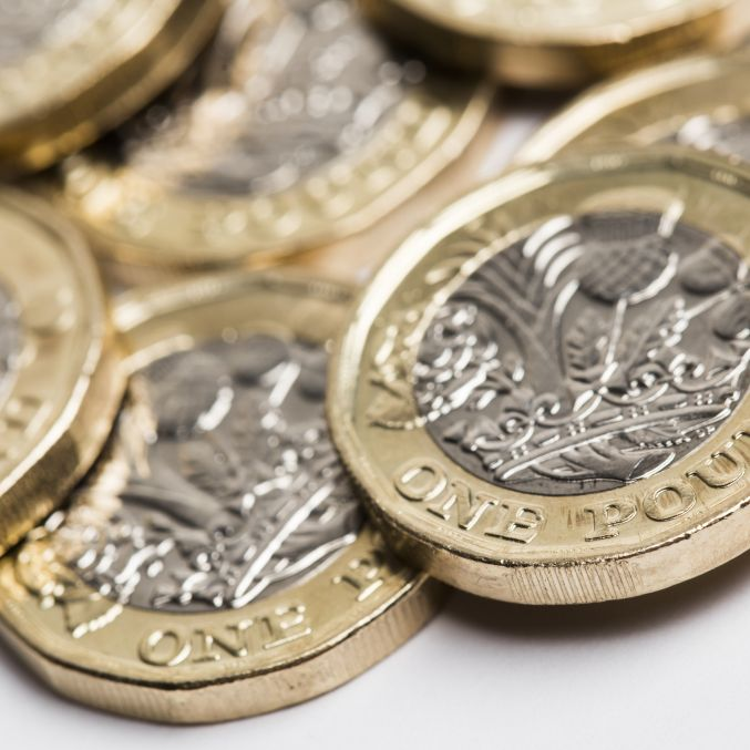 Shutterstock image of pound coins