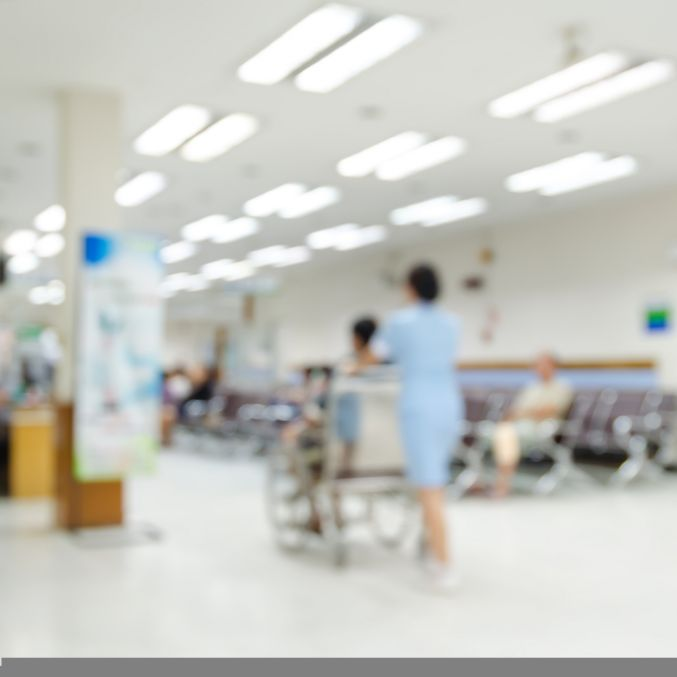 Shutterstock blurred hospital image