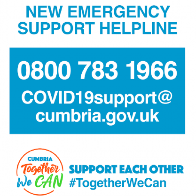 Cumbria County Council COVID support service.png