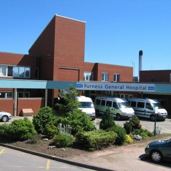 Furness General Hospital main entrance