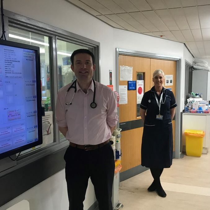 Dr Tim Gatheral and ILD Specialist Nurse Claire Lee UHMBT.jpg