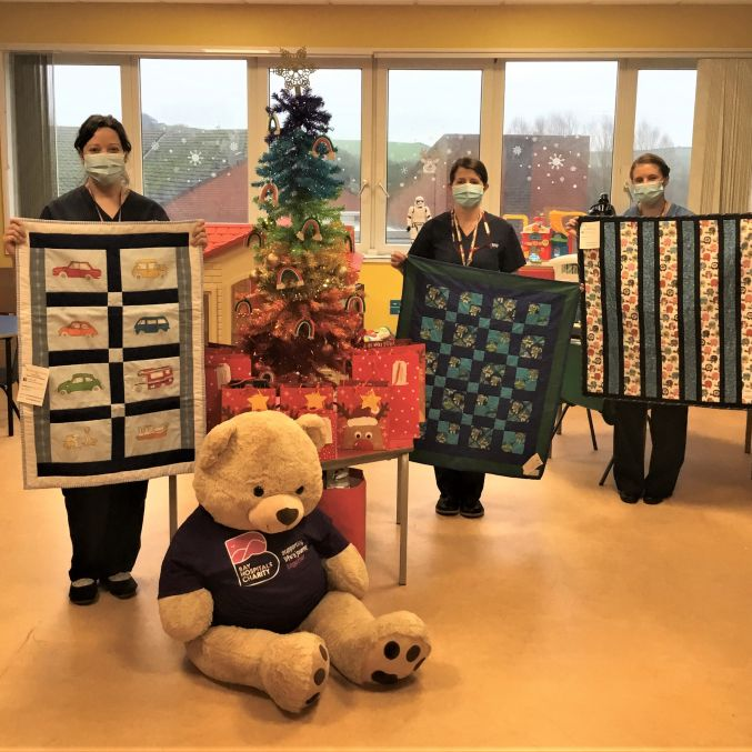 Project Linus FGH Childrens Ward with quilts.jpg
