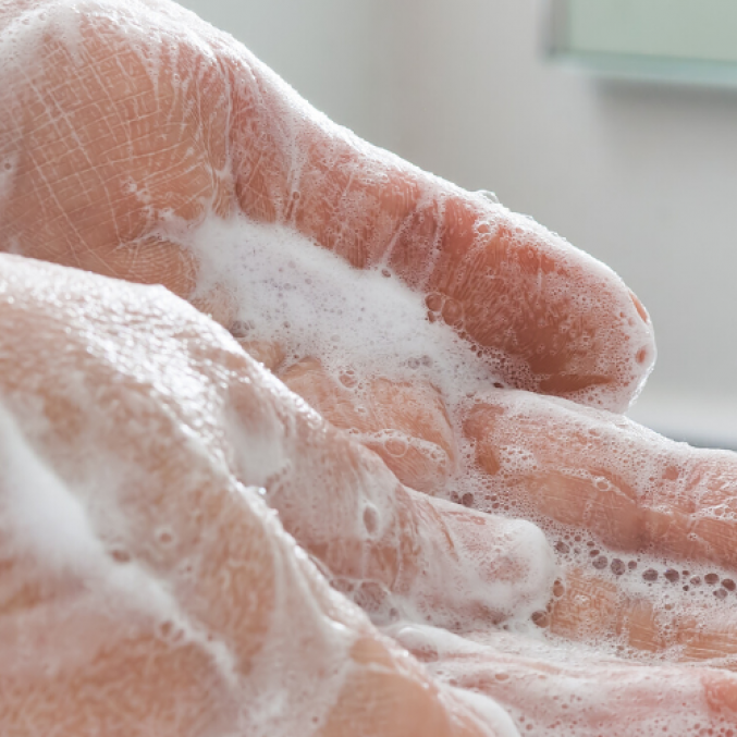 Homepage banner hand washing