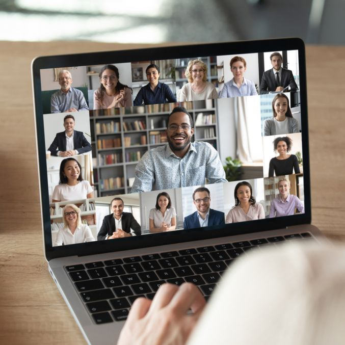 Virtual meeting shutterstock image